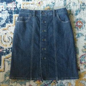 Talbot's petite jean skirt